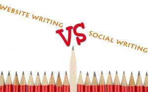 Website writing vs Social writing