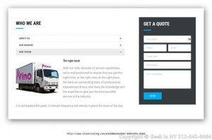 Trucking Company Website Design & Develop